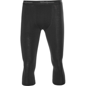 Woolpower Lite 3/4 Lang Ondergoed Heren, black
